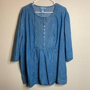 Denim blouse with small buttons 2x